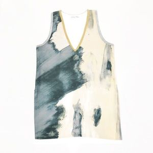 ZARA W/B Collection Abstract Watercolor Tank
